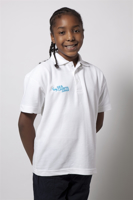 Picture of Junior Polo Shirt (white) with SC Junior Logo