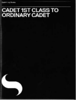 Picture of Cadet 1st Class to Ordinary Cadet Log Book