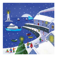 Picture of (Christmas Cards x 5) SC Christmas in the Docks