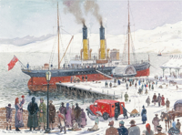 Picture of (Christmas Cards x 5) Mail Ship (MSSC)