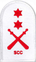 Picture of RMC Physical Training Badges - Gym Wear (Serial 087.1) RMC Physical Training Advanced (Red on White)