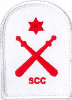 Picture of RMC Physical Training Badges - Gym Wear (Serial 104.1) RMC Physical Training Intermediate (Red on White)