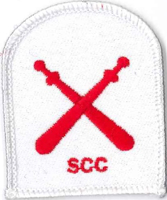 Picture of RMC Physical Training Badges - Gym Wear (Serial 117.1) RMC Physical Training Basic (Red on White)