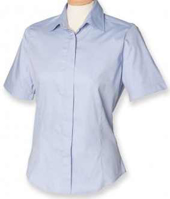 Picture of Customised embroidery Oxford Short Sleeve Shirt with SCC Logo (Ladies)(Light Blue)