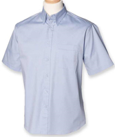 Picture of Customised embroidery Oxford Short Sleeve Shirt with SCC Logo (Light Blue)