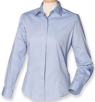 Picture of Customised embroidery Oxford Long Sleeve Shirt with SCC Logo (Ladies)(Light Blue)