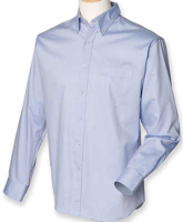 Picture of Customised embroidery Oxford Long Sleeve Shirt with SCC Logo (Light Blue)