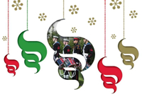 Picture of (Christmas Cards x 5) SC Christmas Swirl